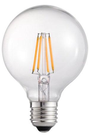LED λαμπτήρας G80 4W E27 Θερμό Filament
