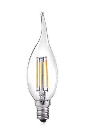 Λάμπα LED filament κερί 4w c35t