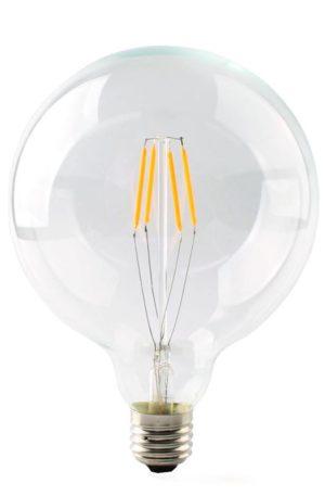 LED λαμπτήρας G125 4W E27 Θερμό Filament