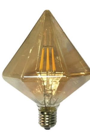 Λάμπα διακοσμητική Filament Κεχριμπάρι Led 6W Κρύσταλλος