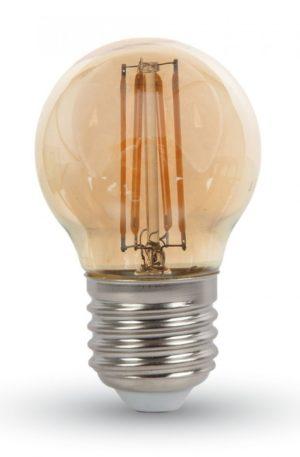 LED λαμπτήρας G45 4W Filament Κεχριμπάρ