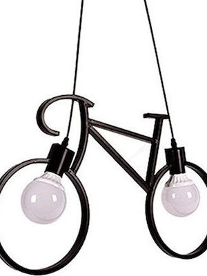 Φωτιστικό κρεμαστό οροφής σχήματος ποδηλάτου σε μαύρο χρώμα BIKEB