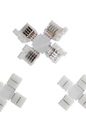 Κονέκτορας σε σχήμα σταυρού για ταινία LED RGB