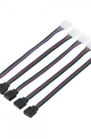 Connector Διπλός σε PIN με Καλώδιο για Ταινία LED RGB