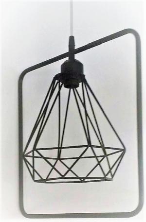 Κρεμαστό φωτιστικό οροφής τετράγωνο με διαμάντι