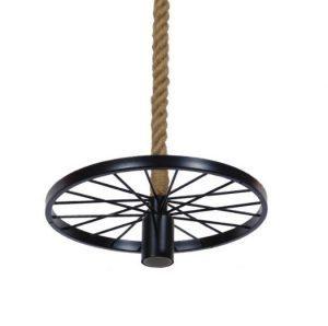Κρεμαστό φωτιστικό ρόδα με σκοινί